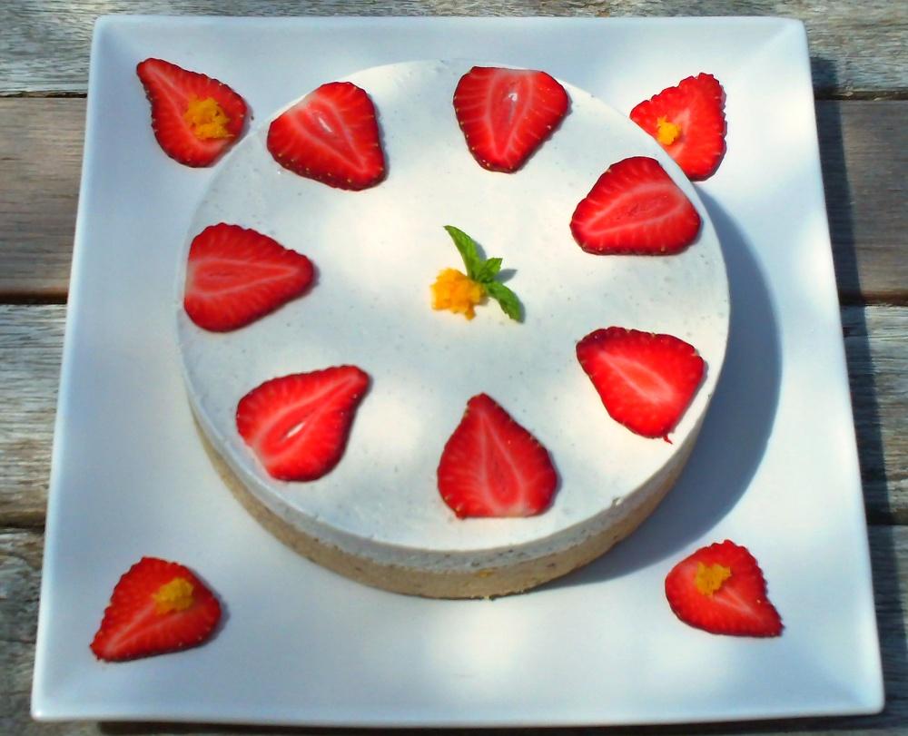 Strawberry and Coconut Cream Cake