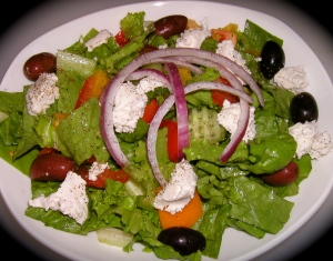 Greek Salad with Almond Feta