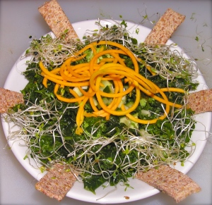 Kale salad, ready to serve