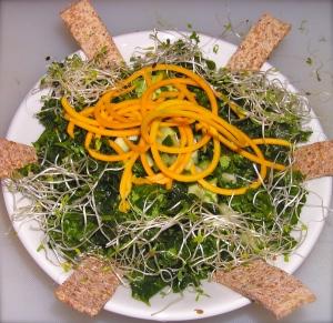 Kale salad, ready to serve