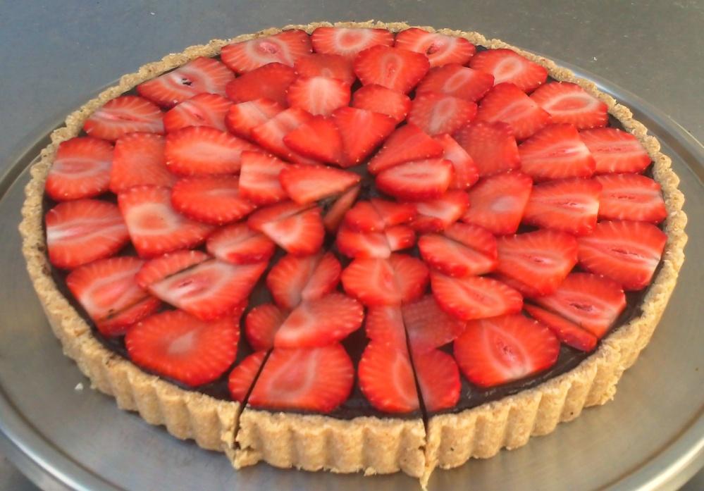 Raw Chocolate Strawberry Torte
