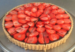 Raw Chocolate Strawberry Torte