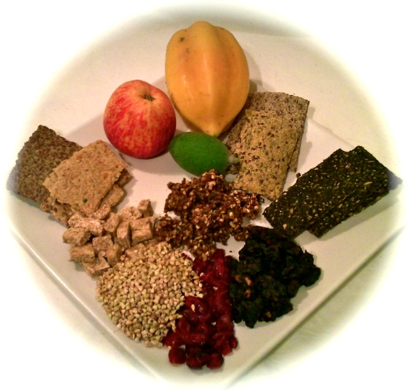Selection of Dehydrated Raw Foods