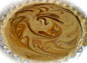 Swirly Chai Chocolate Raw Cheesecake
