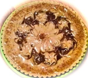 White Chai and Chocolate Raw Cheesecake