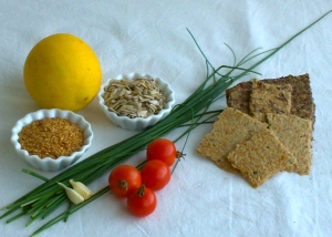 Flaxseed cracker ingredients