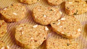 Almond Sauerkraut Bread - dehydrated