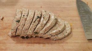 Almond Sauerkraut Loaf, sliced