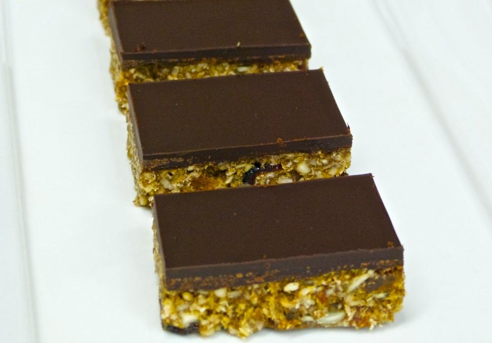Chocolate Muesli Slice
