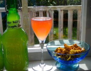 Water Kefir, Kombucha, Curry Cashews