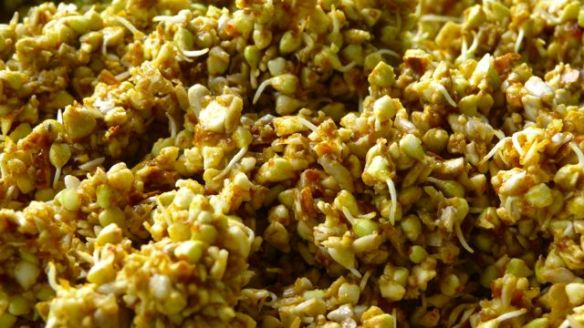 wet nut mix for apple spice granola